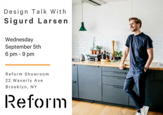 Sigurd Larsen lecture new york reform kitchen danish design architecture